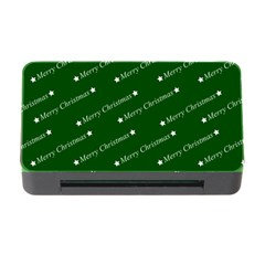 Merry Christmas,text,green Memory Card Reader With Cf by ImpressiveMoments