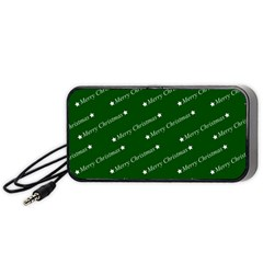Merry Christmas,text,green Portable Speaker (black)  by ImpressiveMoments
