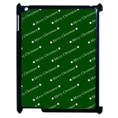 Merry Christmas,text,green Apple Ipad 2 Case (black) by ImpressiveMoments