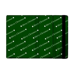 Merry Christmas,text,green Apple Ipad Mini Flip Case by ImpressiveMoments