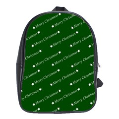 Merry Christmas,text,green School Bags (xl)  by ImpressiveMoments