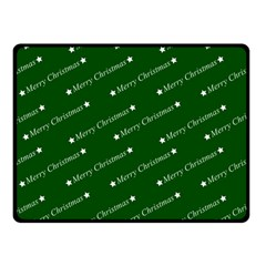 Merry Christmas,text,green Double Sided Fleece Blanket (small)  by ImpressiveMoments