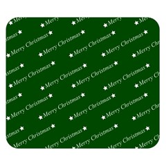 Merry Christmas,text,green Double Sided Flano Blanket (small)  by ImpressiveMoments