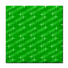 Many Stars, Neon Green Tile Coasters by ImpressiveMoments