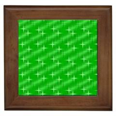 Many Stars, Neon Green Framed Tiles by ImpressiveMoments