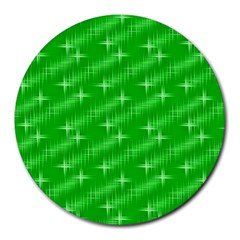 Many Stars, Neon Green Round Mousepads by ImpressiveMoments