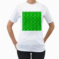 Many Stars, Neon Green Women s T Shirt (white) (two Sided) by ImpressiveMoments