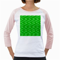 Many Stars, Neon Green Girly Raglans by ImpressiveMoments