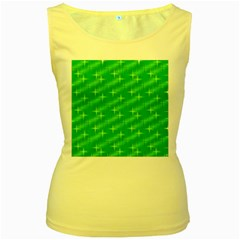 Many Stars, Neon Green Women s Yellow Tank Tops by ImpressiveMoments