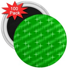 Many Stars, Neon Green 3  Magnets (100 Pack) by ImpressiveMoments