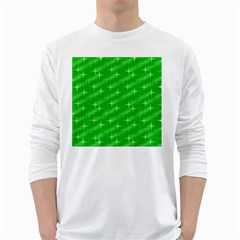 Many Stars, Neon Green White Long Sleeve T Shirts by ImpressiveMoments