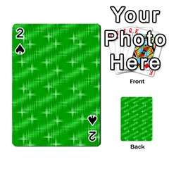 Many Stars, Neon Green Playing Cards 54 Designs