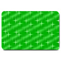 Many Stars, Neon Green Large Doormat