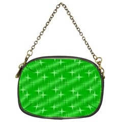 Many Stars, Neon Green Chain Purses (two Sides)  by ImpressiveMoments