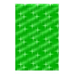 Many Stars, Neon Green Shower Curtain 48  X 72  (small)  by ImpressiveMoments