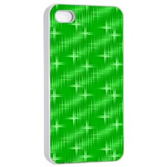 Many Stars, Neon Green Apple Iphone 4/4s Seamless Case (white) by ImpressiveMoments