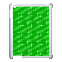 Many Stars, Neon Green Apple Ipad 3/4 Case (white) by ImpressiveMoments