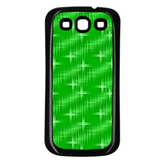 Many Stars, Neon Green Samsung Galaxy S3 Back Case (black) by ImpressiveMoments