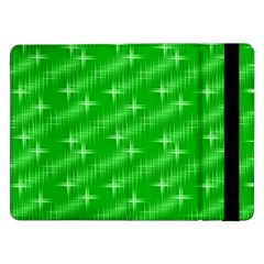 Many Stars, Neon Green Samsung Galaxy Tab Pro 12 2  Flip Case by ImpressiveMoments