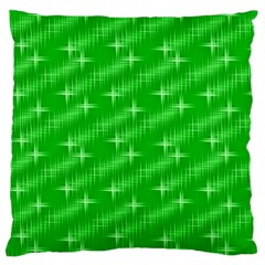 Many Stars, Neon Green Standard Flano Cushion Cases (one Side)  by ImpressiveMoments