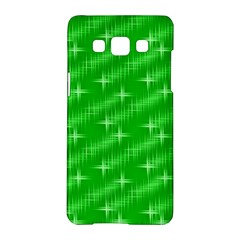 Many Stars, Neon Green Samsung Galaxy A5 Hardshell Case  by ImpressiveMoments