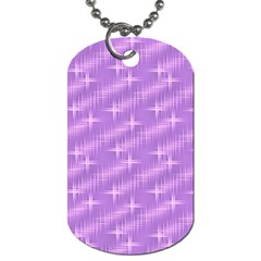 Many Stars, Lilac Dog Tag (two Sides) by ImpressiveMoments