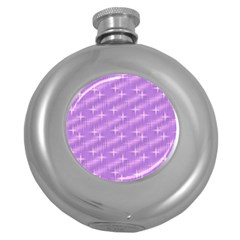 Many Stars, Lilac Round Hip Flask (5 Oz) by ImpressiveMoments