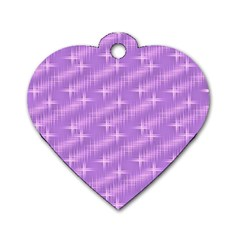 Many Stars, Lilac Dog Tag Heart (one Side) by ImpressiveMoments