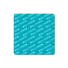 Many Stars,aqua Square Magnet by ImpressiveMoments