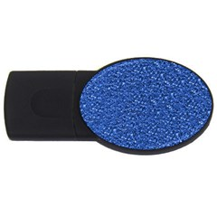Sparkling Glitter Blue USB Flash Drive Oval (1 GB)  by ImpressiveMoments