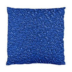 Sparkling Glitter Blue Standard Cushion Case (one Side)  by ImpressiveMoments