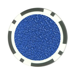 Sparkling Glitter Blue Poker Chip Card Guards (10 Pack)  by ImpressiveMoments