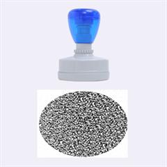 Sparkling Glitter Blue Rubber Oval Stamps