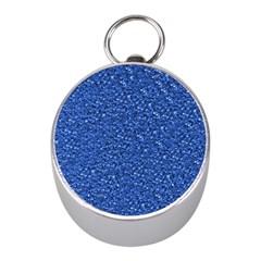 Sparkling Glitter Blue Mini Silver Compasses by ImpressiveMoments