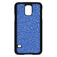 Sparkling Glitter Blue Samsung Galaxy S5 Case (black) by ImpressiveMoments