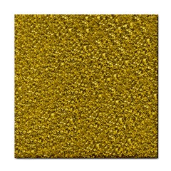 Sparkling Glitter Golden Tile Coasters by ImpressiveMoments