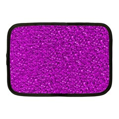 Sparkling Glitter Hot Pink Netbook Case (medium)  by ImpressiveMoments