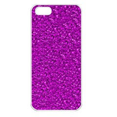 Sparkling Glitter Hot Pink Apple Iphone 5 Seamless Case (white) by ImpressiveMoments