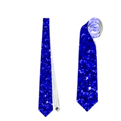Sparkling Glitter Inky Blue Neckties (one Side)