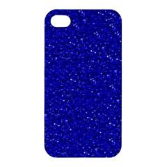 Sparkling Glitter Inky Blue Apple Iphone 4/4s Premium Hardshell Case by ImpressiveMoments