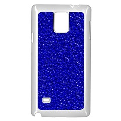 Sparkling Glitter Inky Blue Samsung Galaxy Note 4 Case (White) by ImpressiveMoments