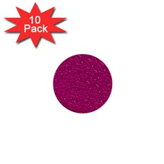 Sparkling Glitter Pink 1  Mini Buttons (10 Pack)  by ImpressiveMoments