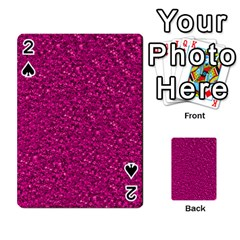 Sparkling Glitter Pink Playing Cards 54 Designs