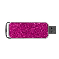 Sparkling Glitter Pink Portable Usb Flash (two Sides) by ImpressiveMoments