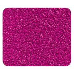 Sparkling Glitter Pink Double Sided Flano Blanket (Small)
