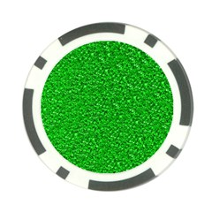 Sparkling Glitter Neon Green Poker Chip Card Guards (10 Pack)  by ImpressiveMoments