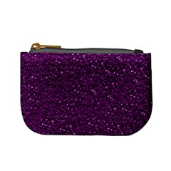 Sparkling Glitter Plum Mini Coin Purses