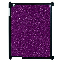 Sparkling Glitter Plum Apple Ipad 2 Case (black) by ImpressiveMoments