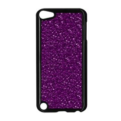 Sparkling Glitter Plum Apple Ipod Touch 5 Case (black) by ImpressiveMoments