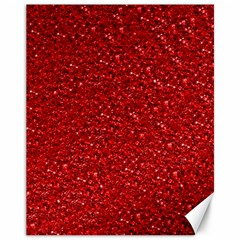 Sparkling Glitter Red Canvas 11  x 14   by ImpressiveMoments